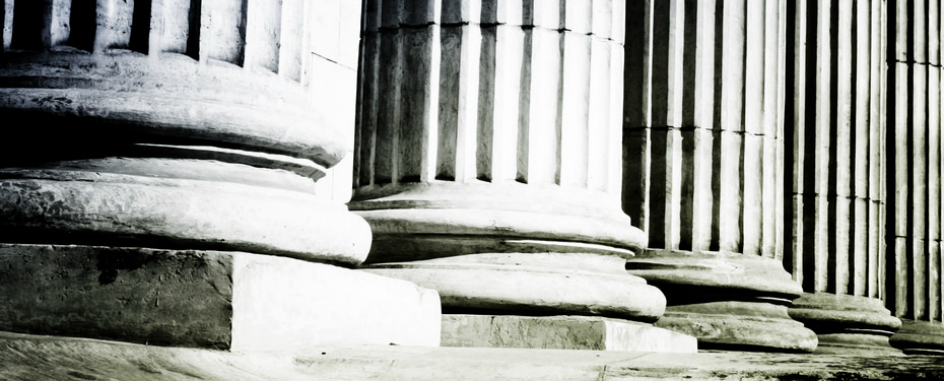 Courthouse pillars representing immigration law case studies