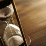 Hourglass representing H-1B visa application