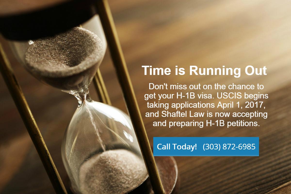Hourglass representing H-1B visa application deadline