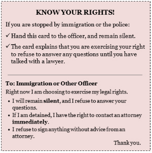 Knowing Your Rights When ICE Officers Visit Your Home or