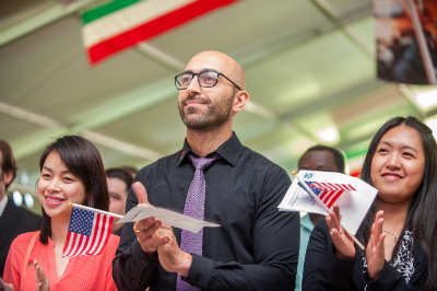 Naturalization ceremony representing citizenship services offered by Denver immigration firm Shaftel Law