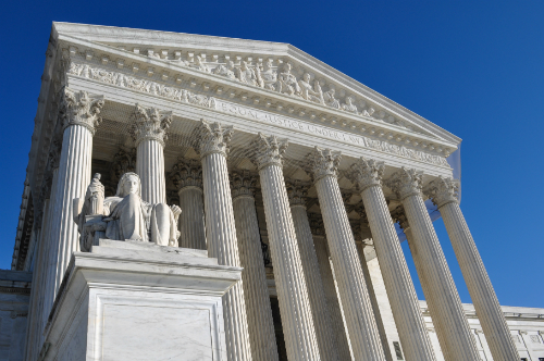 US Supreme Court Building representing opinion on Trump's travel ban by Shaftel Law